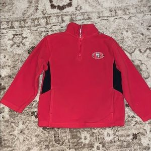 San Francisco 49ers Red Zip-up Fleece Top size 8